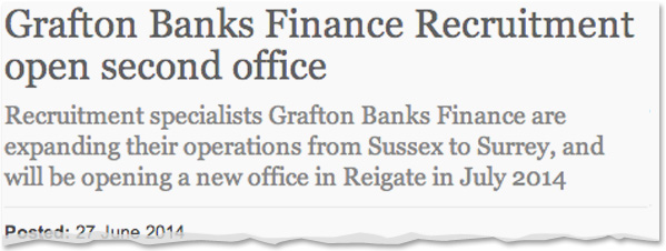 Image for Grafton Banks Finance Recruitment open second office