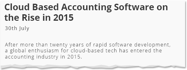 Image for Cloud Based Accounting Software on the Rise in 2015