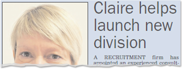 Image for Claire Jones helps launch new division