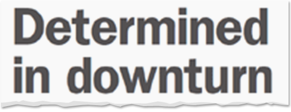 Image for Determined in Downturn