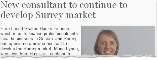 Image for New consultant to continue to develop Surrey market