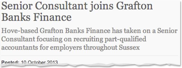 Image for Senior Consultant joins Grafton Banks Finance