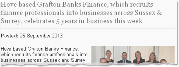 Image for Grafton Banks Finance 5th anniversary